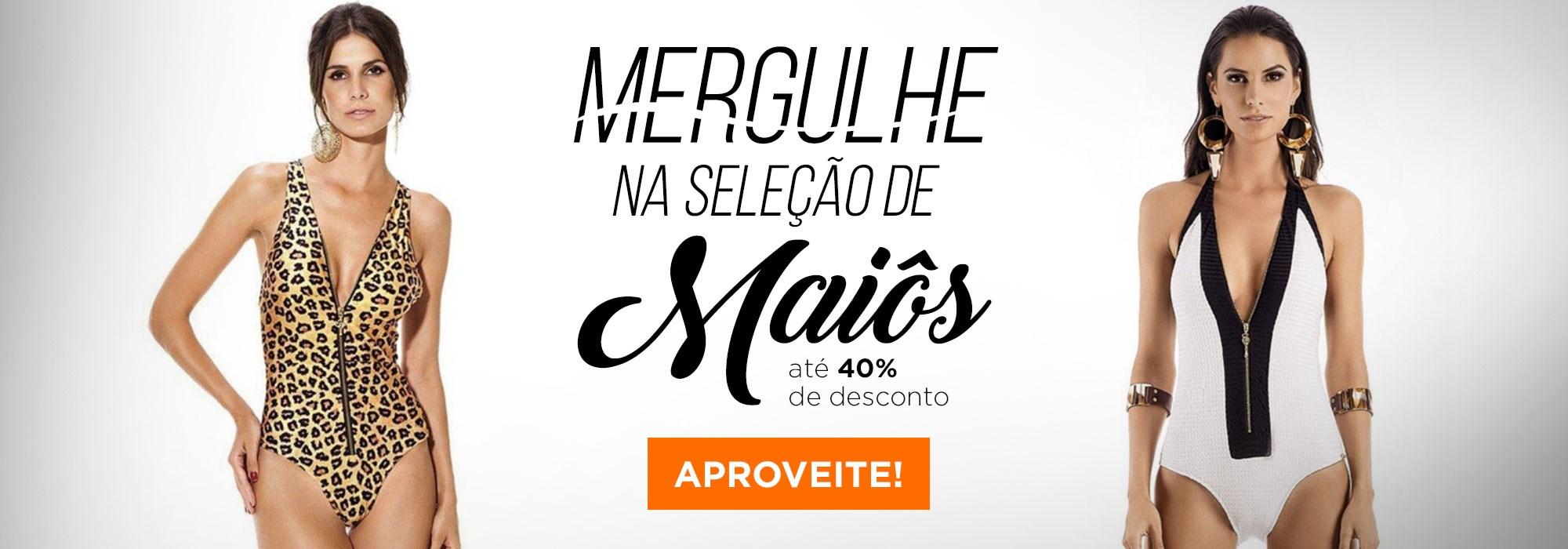MAIÔS ATÉ 40% OFF