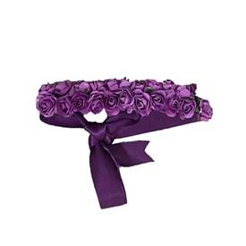 Arranjo para coque de bailarina e daminha de honra Flores Roxo