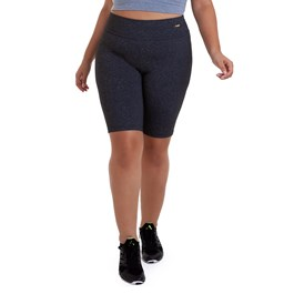 BERMUDA PLUS SIZE SUPPLEX MESCLA ESCURO BEST FIT