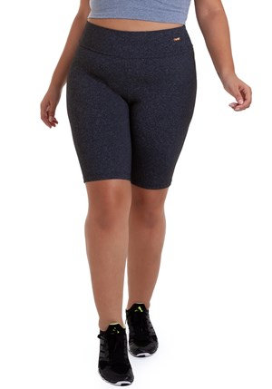 Produto BERMUDA PLUS SIZE SUPPLEX MESCLA ESCURO BEST FIT