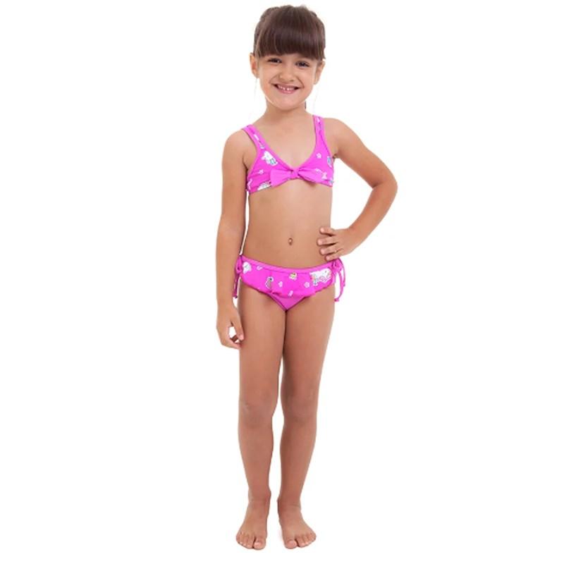 Biquíni Infantil Best Fit Pink Unicornio