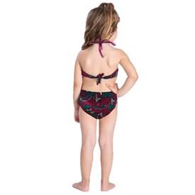 Biquini Infantil BotoRosa Hot Pants Unicórnio Rosa