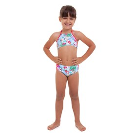 BIQUÍNI INFANTIL HOT PANTS AZUL E ROSA BEST FIT