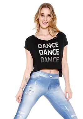 BLUSA CROPPED DANCE PRETA TRINYS