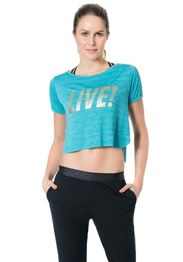 BLUSA CROPPED ESSENTIAL TURQUESA LIVE