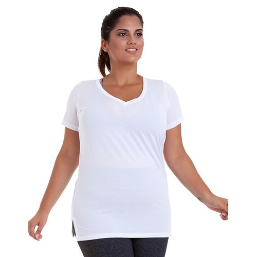 BLUSA DRY PLUS SIZE BRANCA BEST FIT