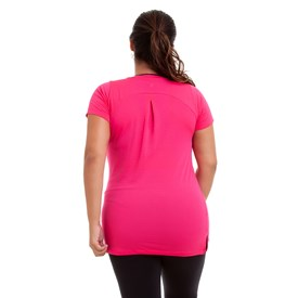 BLUSA DRY PLUS SIZE ROSA NEON BEST FIT