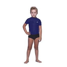 BLUSA KIDS COM PROTEÇÃO SOLAR AZUL MARINHO