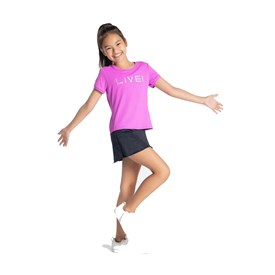 Blusa Live Infantil Holographic Rosa