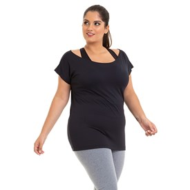 BLUSA MANGA CURTA BEST FIT MULTIPIC PLUS SIZE