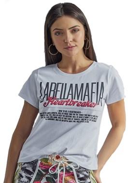BLUSA MANGA CURTA BRANCA LABELLAMAFIA