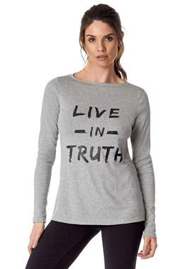 BLUSA MANGA LONGA LIVE IN TRUTH MESCLA VESTEM