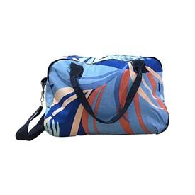 Bolsa Tecido Best Fit Folhagem Azul