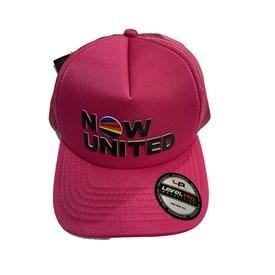Boné Infantil Now United Aba CurvaPink