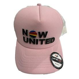 Boné Infantil Now United Aba Curva Rosa