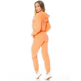 Calça Jogger Let'sGym Fleece Trend Laranja