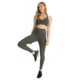 Calça Legging Active Essential Live Verde Militar