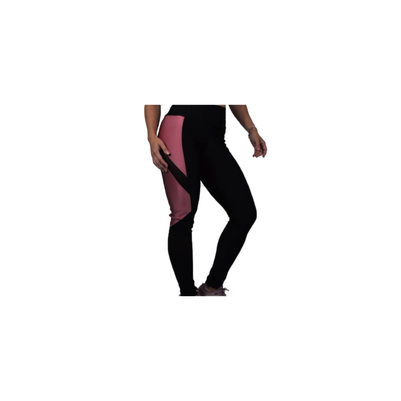 Calça Legging Best Fit Black Glow Preto e Rosa