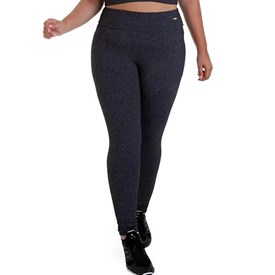 Calça Legging Best Fit Suplex Plus Size Mescla Escuro
