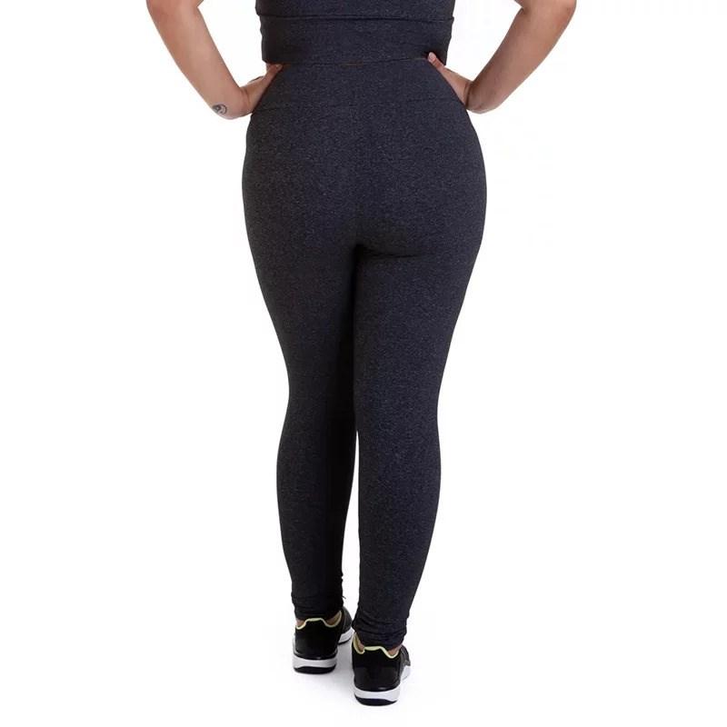 Calça Legging Best Fit Suplex Plus Size Mescla Escuro