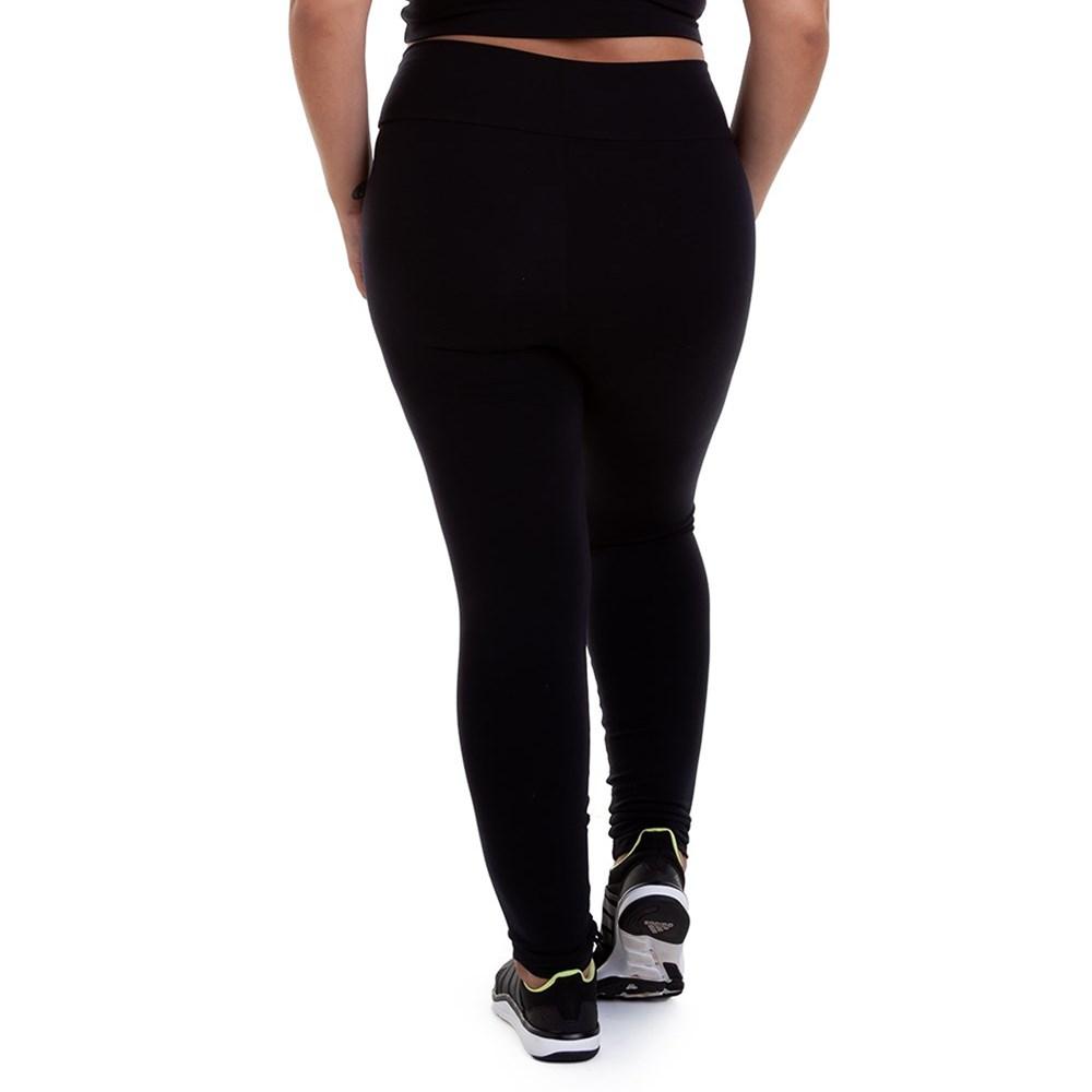 Calça Legging Best Fit Suplex Plus Size Preta