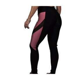 Calça Legging Bestfit Black Glow Preto e Rosa
