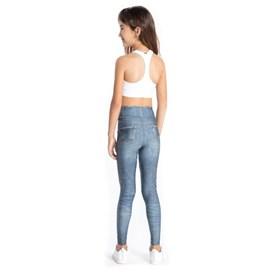 Calça Legging Infantil Denim Jeans Live Azul