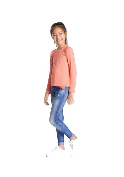 Calça Legging Em Athletic Jeans Infantil Live - Compre Agora  8bc0db09cae92