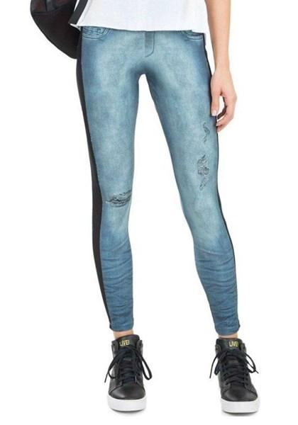 Calça Legging Jeans Mix And Match Frayed Jeans Live - Compre Agora ... 41a0f3c779fd3