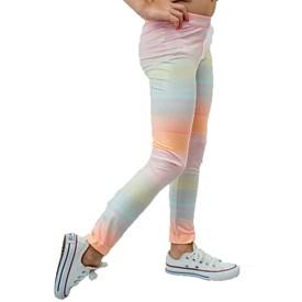 Calça Legging LeFruFru Infantil Arco Iris Brilhante