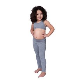 Calça Legging LeFruFru Infantil Mescla com Bolso