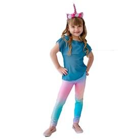 Calça Legging LeFruFru Infantil Unicornio