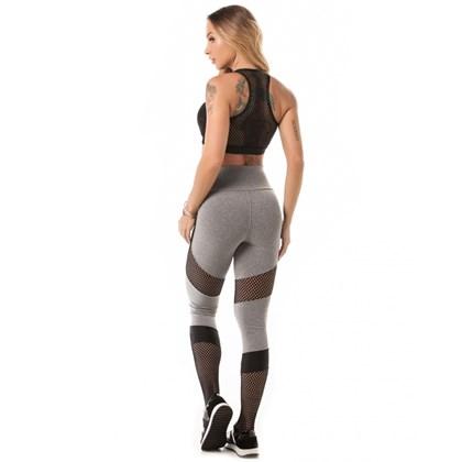 Calça Legging Let'sGym Melange Sport Mescla