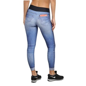 Calça Legging Live Athletic Jeans Azul