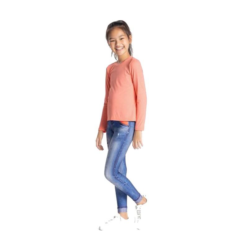 Calça Legging Live Infantil Athletic Jeans