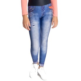 Calça Legging Live Infantil Athletic Jeans
