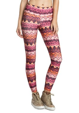 CALÇA LEGGING POWER WAVES GYM ROSA LIVE
