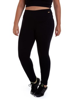 CALÇA LEGGING SUPLEX PLUS SIZE PRETO BEST FIT