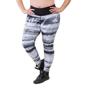 Calça Legging Trinys Double Side Plus Size Preta e Branca