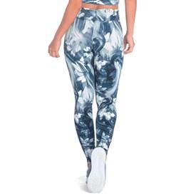 Calça Legging Vestem Cos FruFru Abstrato Azul