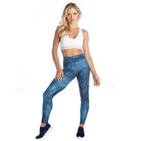 Calça Legging Vestem Cos Frufru Azul Jeans