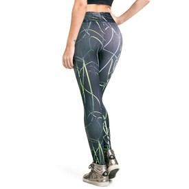 Calça Legging Vestem Fusô Cós Frufru Preto com Verde