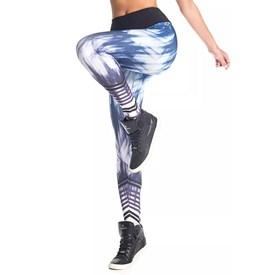Calça Legging Vestem Fusô Sublimada Azul com Roxo