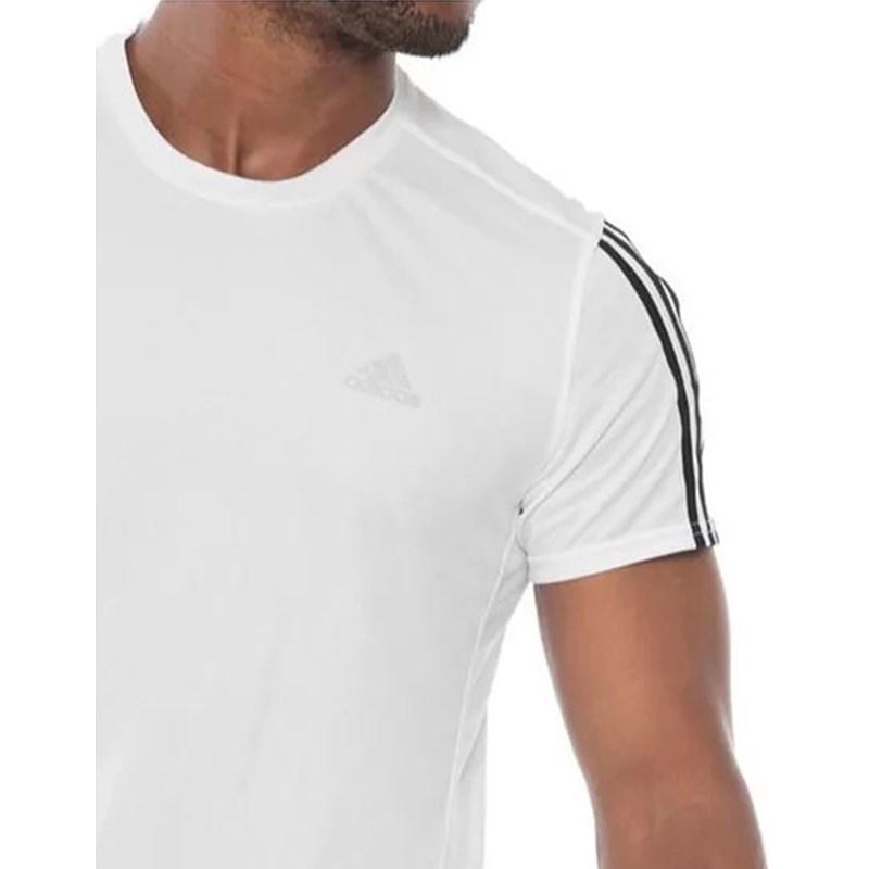 Camiseta Adidas  Run 3s Tee Branca