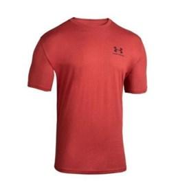 Camiseta Adulta Masculina Under Armour Sportstyle Left Vermelha