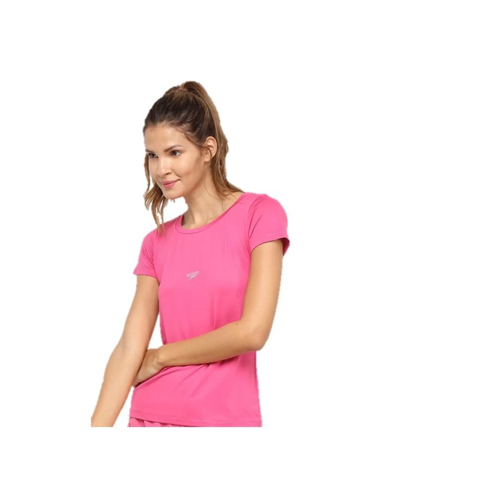 Camiseta Adulta Speedo Jacquard Club Rosa