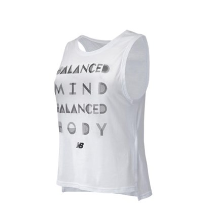 CAMISETA COTTON TANK BRANCA NEW BALANCE