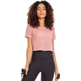 Camiseta Cropped Live Strikes Up Rosa