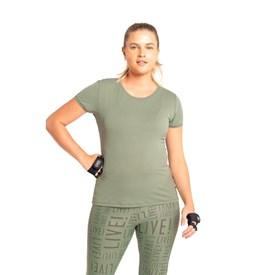 Camiseta Feminina Baby Look Comfy Live Verde