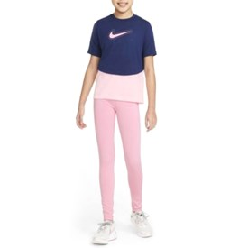 Camiseta Feminina Infantil Nike Dri-Fit Trophy Azul Marinho